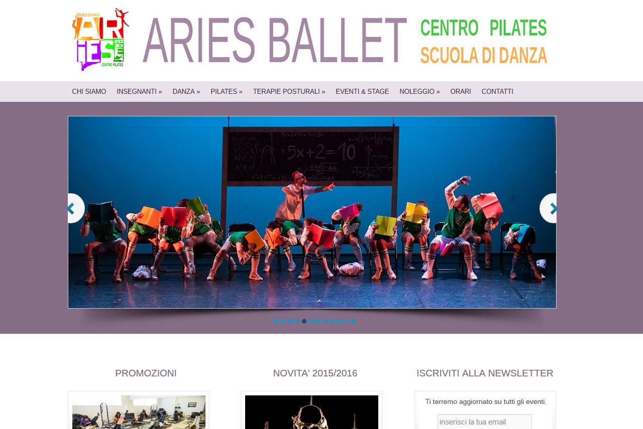 realizzazione siti internet ariesballet