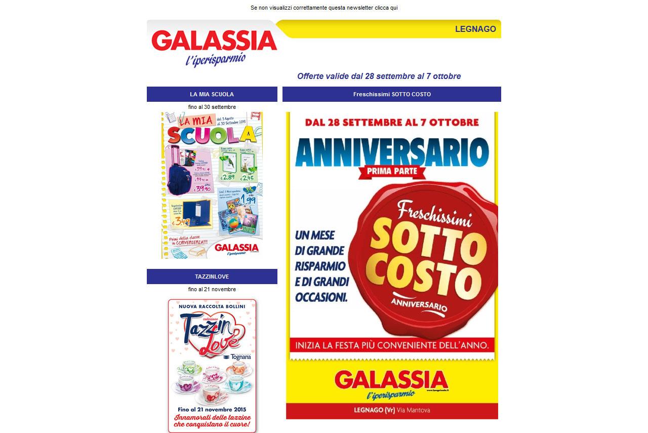 realizzazione siti internet newsletter galassia